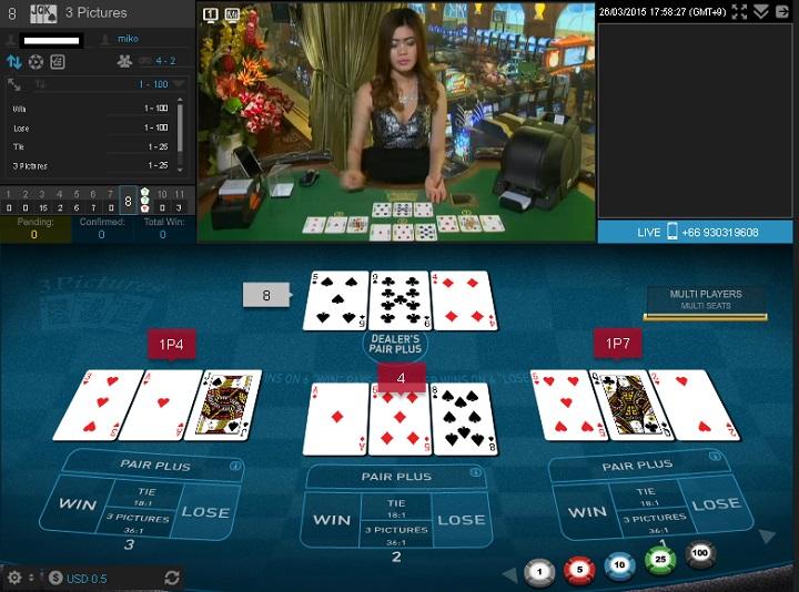 スリーピクチャーズ クイーンカジノ オンラインカジノ